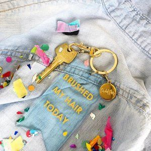 Packed Party | Brushed my hair today keychain